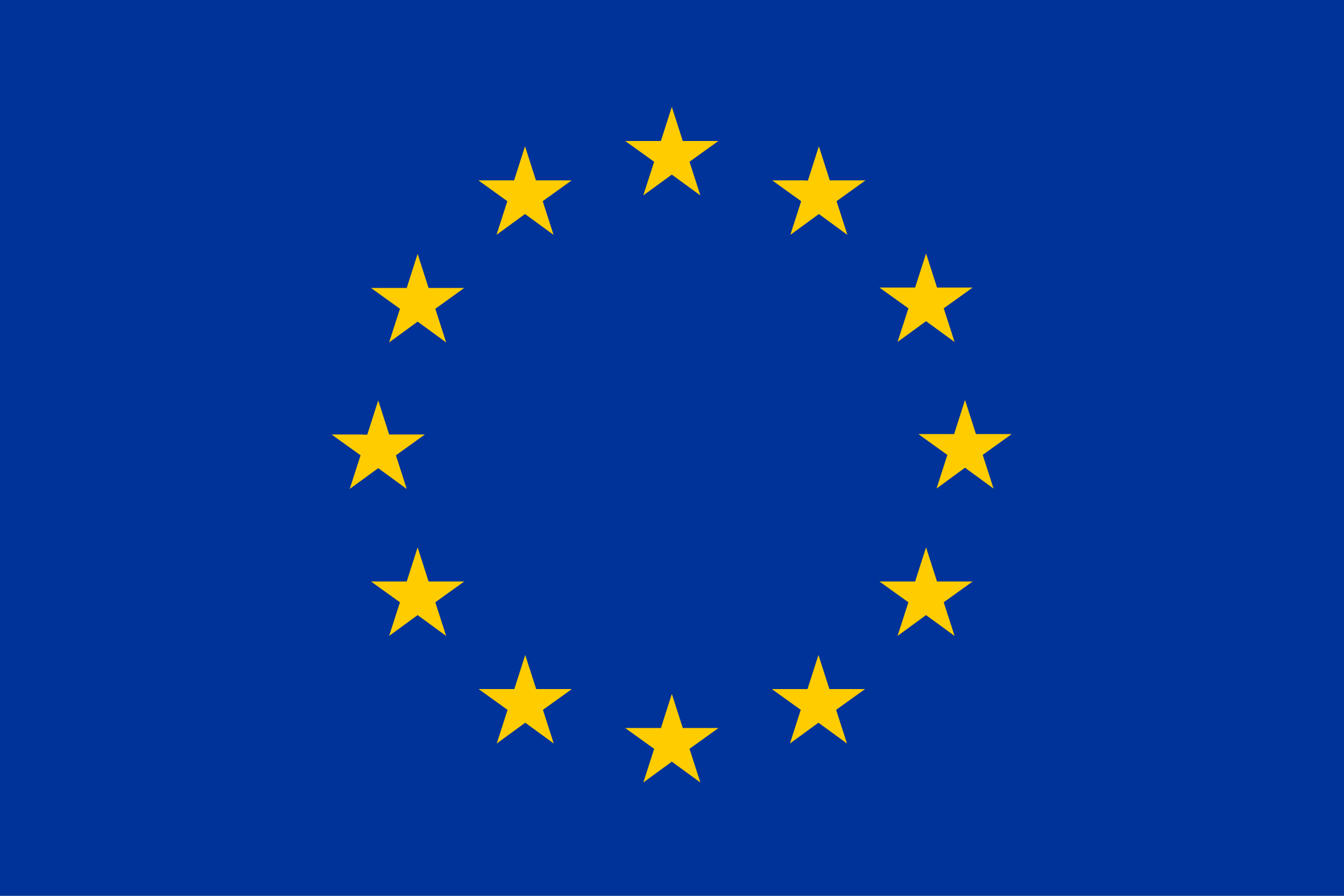 EU-flag yellow high